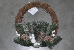 Венок из хвои рождественский.Декоративный.28см