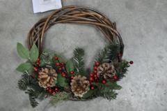 Венок из хвои рождественский.Декоративный.40см