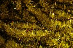 Мишура желтый + цветной кончик,  длина 1.5м,...