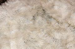 Мишура белый + серебро, длина 1.5м, диаметр 25мм .