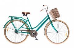 "Велосипед Dorozhnik Comfort FeMale 2016, рама 19"" зеленый 1"