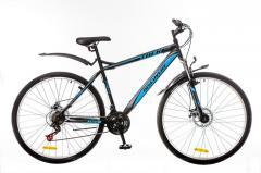 "Велосипед 29 Discovery Trek DD St 2016, рама 21"" черно-серо-зеленый"