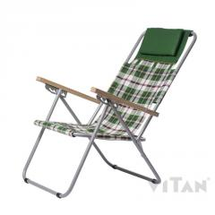 Chair chaise lounge Ash-tree Coarse calico (green