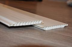 Lining white (dairy) 6000х100х10. PVC plastic