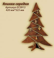 Decorative figure Fir-tree average. Novelty of