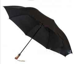 Зонт ZEST 42650 мужской автомат 2 сложения, с деревянной ручкой.