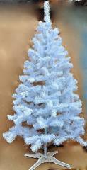 Ель искусственная белая цветная 130 см.