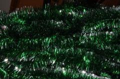 Мишура зеленый+серебро,  длина 1.5м, ...