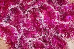 Мишура розовый+белый,  длина 1.5м,  диаметр...