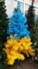 Fir-tree of artificial yellow-blue (color) 150 cm