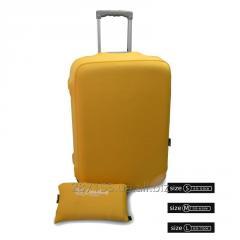 Чехол для чемодана Coverbag желтый S