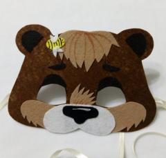 Carnival mask for the boy Medved