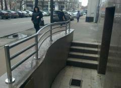 Handrail and protections from a stainless steel