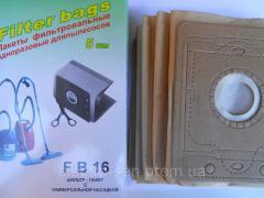 Комплект одноразовых мешков для муссора пылесоса FB-16