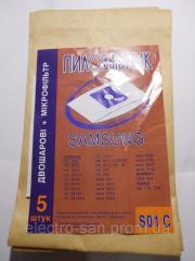 Комплект одноразовых мешков для муссора пылесоса S01C
