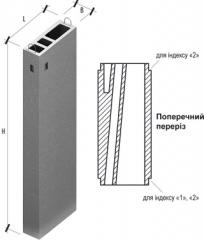 Ventilating blocks for constructions to 10 floors