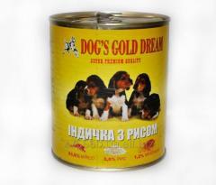 Корм для собак DOG'S GOLD DREAM  Индейка с рисом