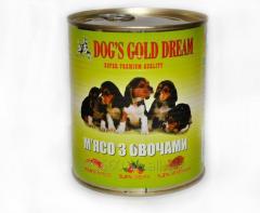 Корм для собак DOG'S GOLD DREAM Мясо с овощами