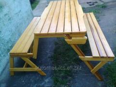 Стол-лавка трансформер, стіл трансформер