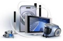 Energy saving household appliances in assortment.