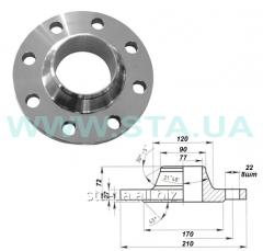 Муфта фланцевая воротниковая 80 мм PN63 стальные ГОСТ 12821-80