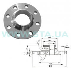 Couplings flange vorotnikovy 80 mm of PN63 steel