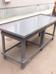 Vibrotable for production of eurofences 2100x800