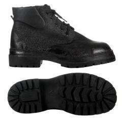 Ботинки мужские зимние б/п юфть/кирза арт.: 7500