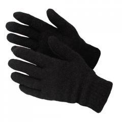 Перчатки полушерстяные черные арт.: 4163