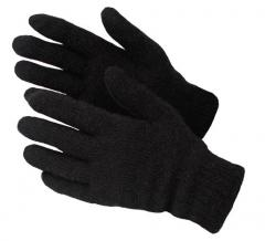 4163 Gloves half-woolen black