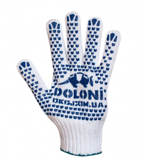 4180 Gloves knitted with bilateral PVC a point 580