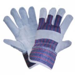 Перчатки комбинированные х/б+спилок утепленные арт.: 4296