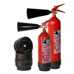 6742 A support under the OU-5 fire extinguish
