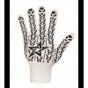 """4184 Gloves knitted """"Star"""" white"""