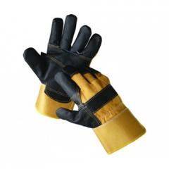 Перчатки комбинированные х/б + кожа Ориол арт.: 4291