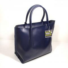 Leather women bag shopper