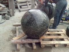 Spheres from a stone, granite spheres