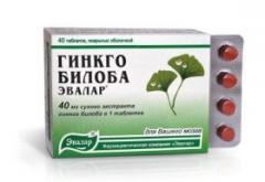 Гинкго Билоба 40 мг