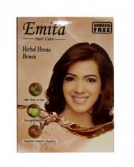 Коричневая хна для волос 10 гр Brown Hair color Emita