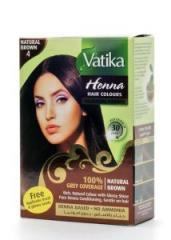 Краска для волос на основе натуральной хны дабур ватики коричневый 10 г 1 пакет