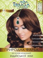 Краска для волос на основе хны (шоколад), 25 г.