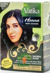 Краска для волос на основе хны дабур ватика черный 10г 1 пакетик