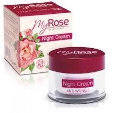 Крем для лица ночной против морщин My Rose