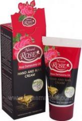 Крем для рук с биоаргановым и розовым маслом 50мл