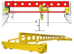 Frame cranes electric with a loading capacity from