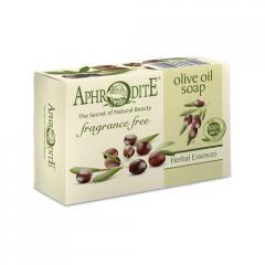 Натуральное оливковое мыло без добавок (классическое) Aphrodite, натуральное, 100 г