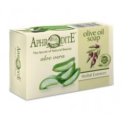 Натуральное оливковое мыло с Алоэ Вера 100 г Aphrodite  100 г
