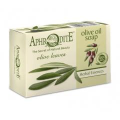 Натуральное оливковое мыло с листьями Оливкового дерева, 100 г Aphrodite