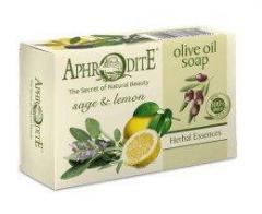Натуральное оливковое мыло с маслом Лимона и ШалфеяAphrodite  100 г