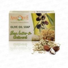 Натуральное оливковое мыло с маслом Ши и Овсянкой Aphrodite  100 г